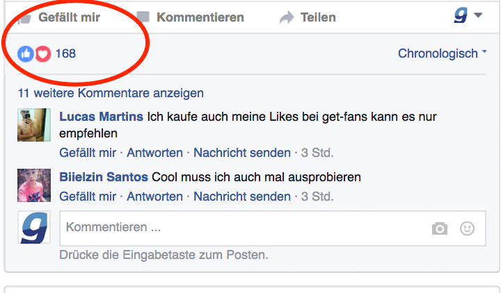 facebook post likes kaufen